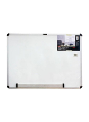 Deli Magnetic White Board with Aluminum Frame, 60 x 90cm, 7854, White