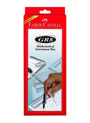 Faber-Castell Mathematical Geometry Box, Red