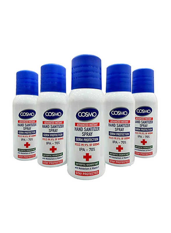 Cosmo Advanced Instant Hand Sanitizer Spray, 100ml, 5 Pieces
