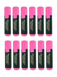 Faber-Castell 12-Piece Textliner 48 Refill Highlighter Pen Set, Pink/Black