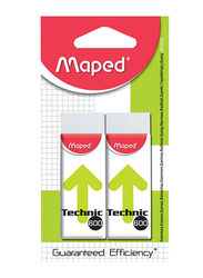 Maped 2-Piece Technic 600 Eraser, White