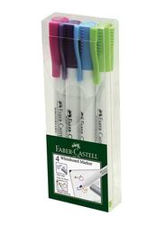 Faber-Castell 4-Piece White Board Marker Set, Multicolour