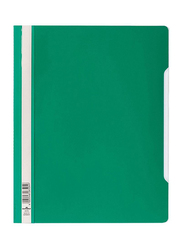 Durable Clear File Folder Set, 50-Pieces, Green