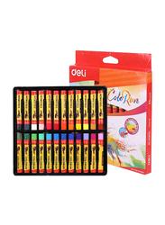 Deli Oil Pastel Crayons, 24 Pieces, EC20220, Multicolor