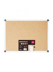 Deli Cork Board with Aluminum Frame, 60 x 90cm, Beige