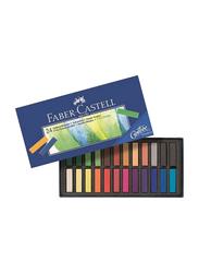 Faber-Castell Soft Pastel Stick Colour Set, 24 Pieces, Multicolour