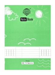 Horizon Exercise Book, A4 Size, Single Line, 70 Sheets, Green