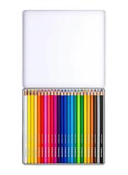 Staedtler 24-Piece Colored Pencil Metal Box Set, Multicolor
