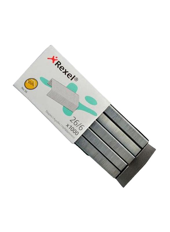Rexel Staple Pin Set, 1000 Pieces, Grey