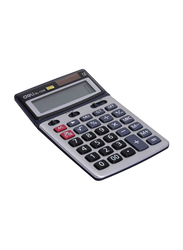 Deli 12-Digit Basic Calculator, Grey/Black