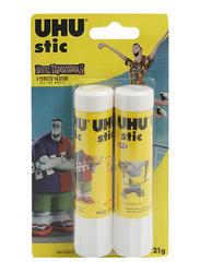 UHU Glue Stick, 21gm, 2 Pieces, Yellow