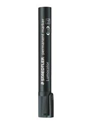 Staedtler 10-Piece Lumocolor Chisel Tip Permanent Marker Set, Black