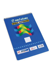 Sinarline SP-03846 Top Spiral Notebook, 70 Sheets, 56 GSM, A4 Size, Multicolor