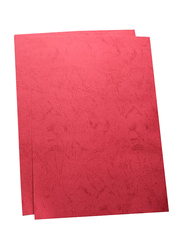 Partner Embossed Binding Sheet, 100 Pieces, A4 Size, Red