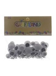 Craftland Decorative Googly Moving Eyes, White/Black