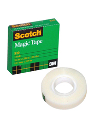 3M Scotch 810 Magic Tape, 2.5 x 1.27cm, Clear