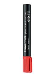 Staedtler 10-Piece Lumocolor Chisel Tip Permanent Marker Set, Red