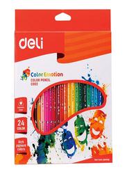 Deli 24-Piece Color Emotion Pencil Set, Multicolor