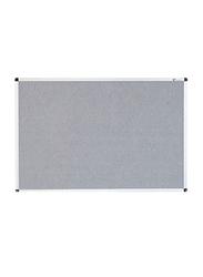 Viz-Pro Aluminum Frame Notice Board, Grey