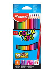 Maped 12-Piece Color Peps Color Pencil Set, Multicolor