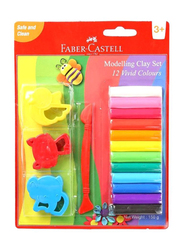 Faber-Castell Modelling Clay Set, 12-Pieces, Multicolor