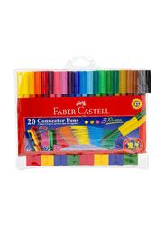 Faber-Castell 20-Piece Connector Colour Marker Pen Set, Multicolour