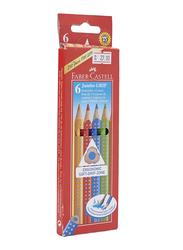 Faber-Castell 6-Piece Jumbo Grip Color Pencil Set, Multicolor