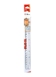 Deli 20cm Anti-Slip Ruler, Clear