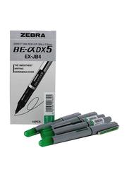 Zebra 10-Piece DX5 Direct Ink Roller Pen Set, 0.5mm, Grey/Green