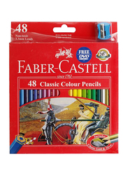 Faber-Castell 48-Piece Classic Colour Pencil Set, Multicolour