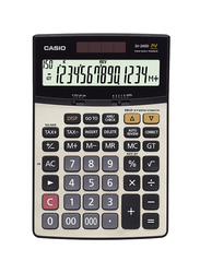 Deli 14 Digits Check Basic Calculator, Black/White