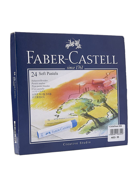 Faber-Castell Soft Pastel Crayons, 24 Pieces, 128324, Multicolor