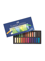Faber-Castell Soft Pastel Crayons, 24 Pieces, Multicolor