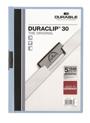 Durable Duraclip 2200-06 30-Sheets Capacity Clip File, A4 Size, Blue