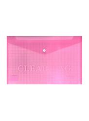 Partner Fullscape Document File Bag, 350 x 250mm, Pink