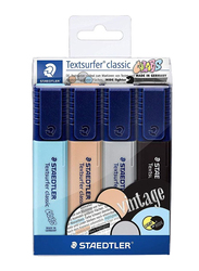 Staedtler 4-Piece Vintage Textliner Highlighter Pen Set, ST-364-CWP4, Multicolor