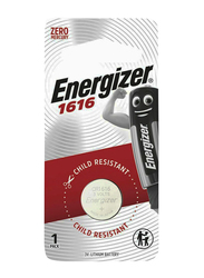 Energizer CR1616 Child Resistant Battery, Silver