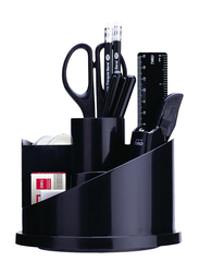 Deli Desk Organizer with Contents, Black