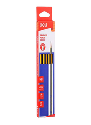 Deli 12-Piece Graphite Pencil Set, Yellow/Blue