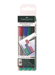 Faber-Castell 4-Piece Multimark 1526 M Marker Pen Set, Multicolour