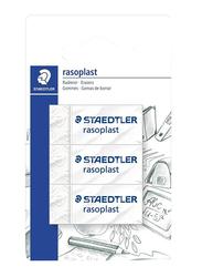 Staedtler 3-Piece Rasoplast Eraser Set, White
