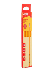 Deli 12-Piece Graphite Pencil Set, Orange