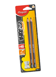 Maped 2-Piece Pencil Set with Sharpener Set, Grey