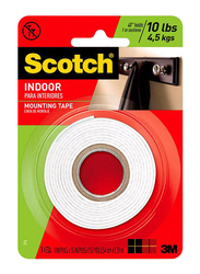 3M Double Sided Mounting Tape Hanging Card, White