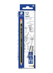 Staedtler 32-Piece Noris Pencil and Stick 430 Ballpoint Pen Set, Yellow/Black/Blue