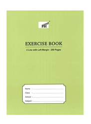 PSI Two Line Exercise Book, 200 Pages, Green