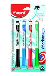 Maped 4-Piece White Board Marker Peps Set, Multicolour
