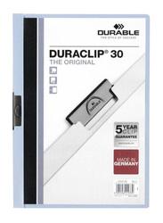 Durable Clip File Folder Set, 25-Piece, Blue
