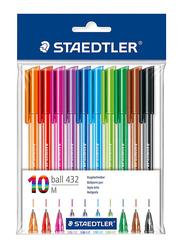 Staedtler 10-Piece Ballpoint Stick Pen Set, Multicolour