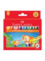 Faber-Castell Jumbo Wax Crayon Set, 12 Pieces, Multicolor